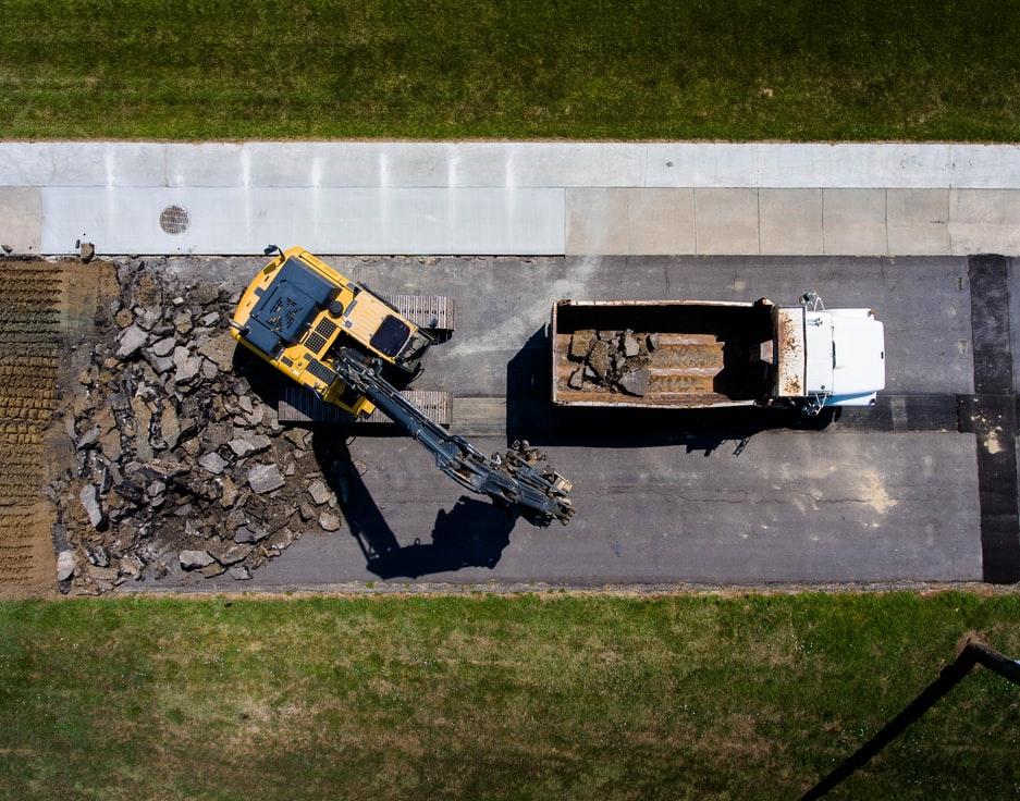 Avfallsmottak hos Sundbrei Transport